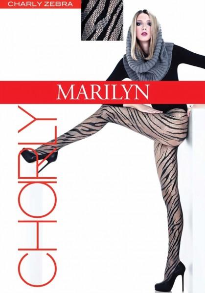 Netpanty met zebrapatroon Zebra van Marilyn, 40 DEN