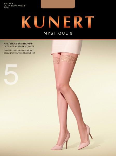 Zeer fijne, matte zelfophoudende kousen Mystique 5 van KUNERT