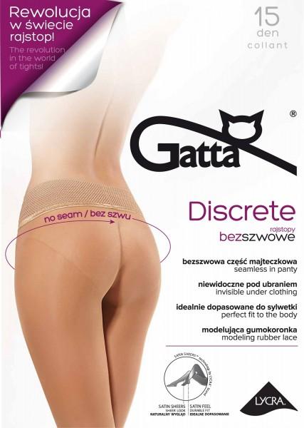 Fijne naadloze panty met kanten boord Discrete 15 van Gatta
