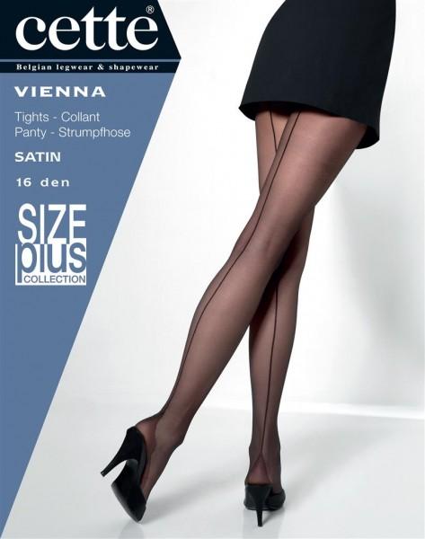 Cette Vienna Size Plus - Fijne panty met zwarte naad en pyramidevormige hiel