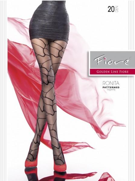 Elegante pantys met patroon Ronita van Fiore, 20 DEN