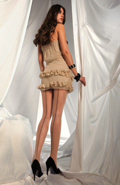Elegante panty met naad-look van Levante, 20 DEN