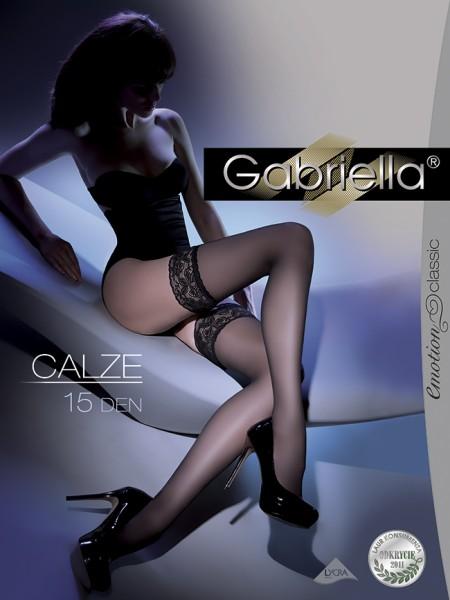 Klassieke gladde stay ups Calze 15 denier van Gabriella