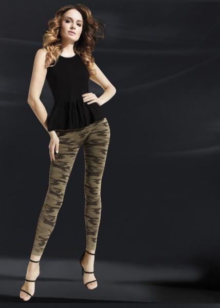 Opaque legging met camouflage-patroon en naadloze broek Moro van Annes, 90 DEN