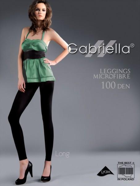 Gladde ondoorzichtige leggings Microfibre 100 DEN van Gabriella