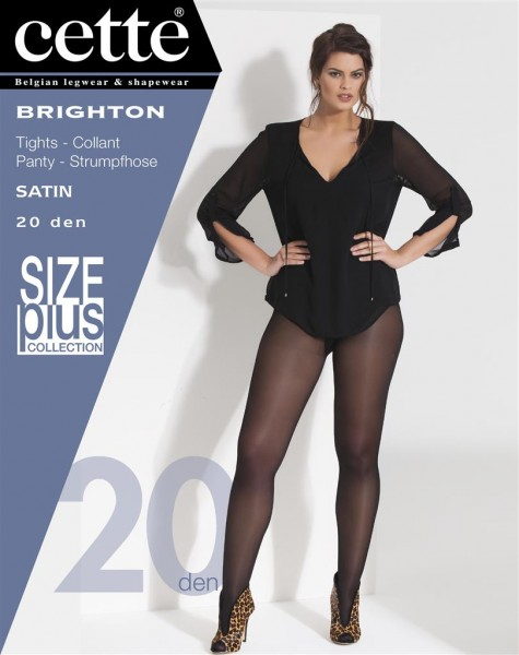 Cette Size Plus Collection - Transparante grote maten panty med satijnglans Brighton