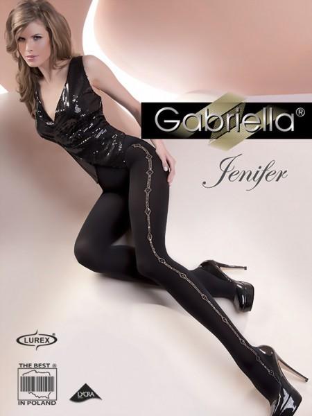 Elegante ondoorzichtige panty met patroon Jenifer van Gabriella