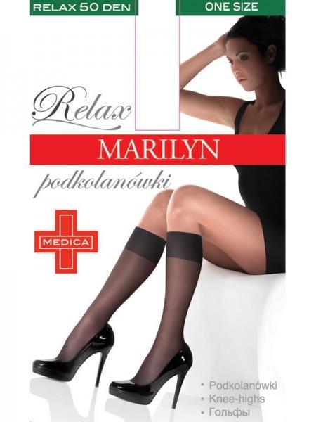 Comfortabele kniekousen met een elastische band die niet snijdt Relax 50 van Marilyn