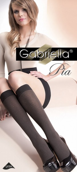 Trendy kniekousen met pied-de-poule patroon Pia van Gabriella