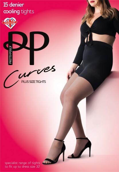 Plus size panty met een temperatuur regulerende werking Cooling Curves van Pretty Polly