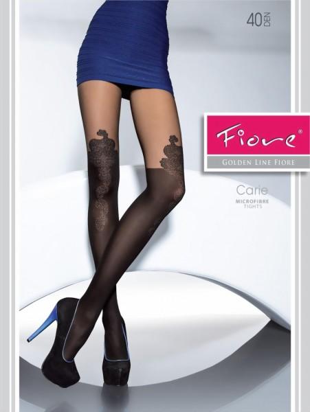 Trendy pantys met over de knie patroon Carie van Fiore, 40 DEN
