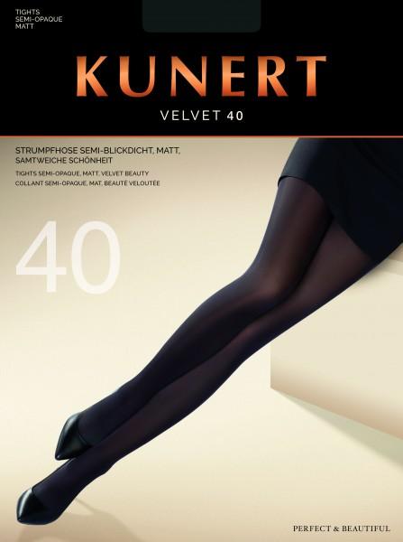 Gladde semi-ondoorzichtige pantys Velvet 40 van KUNERT