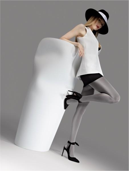 Opaque glanzende panty 100 DEN van Knittex