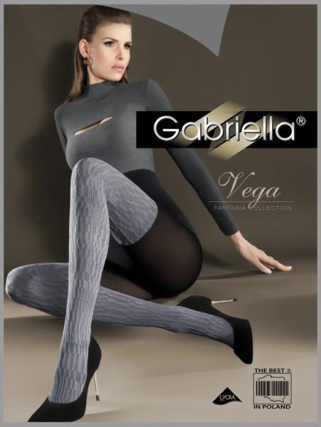 Ondoorzichtige overknee panty met patroon Vega van Gabriella