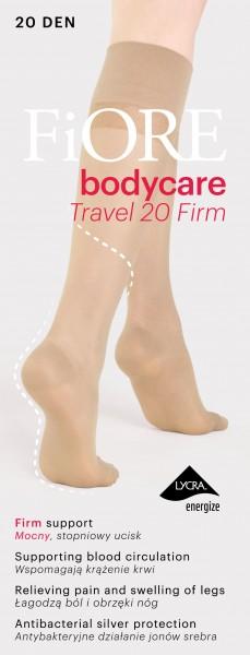 Transparante steungevende kniekousen Travel Firm 20 van Fiore