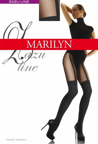 Extravagante pantys met kousenmotief Zazu Line van Marilyn