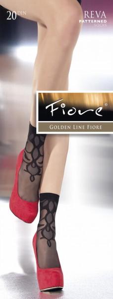 Elegante pantysokjes met patroon Reva van Fiore, 20 DEN