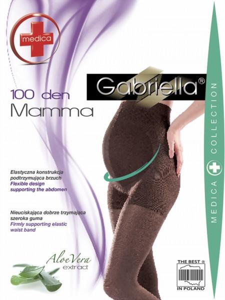 Gladde ondoorzichtige zwangerschapspanty Mamma 100 DEN van Gabriella
