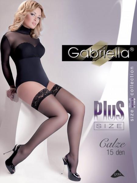 Gladde grote maten stay ups Calze 15 denier van Gabriella
