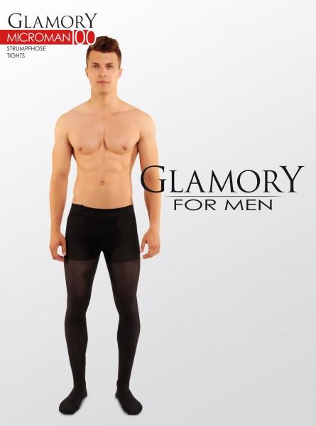 Ondoorzichtige grote maten mannenpanty van microvezel Microman 100 van Glamory
