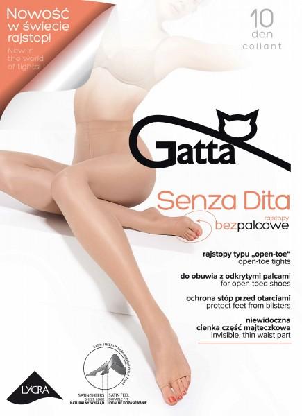 Zeer fijne open teen zomerpanty Senza Dita Toeless van Gatta