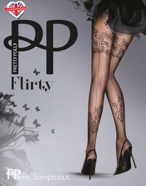 Netpanty met bloemenpatroon en achternaad PPretty ... Sumptuous van Pretty Polly