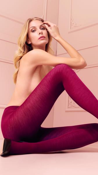 Gladde ondoorzichtige panty van wol Jennifer van Trasparenze, 100 DEN