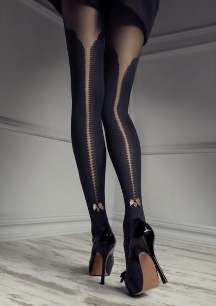 Elegante panty met over de knie patroon en kanten tailleband van Patricia Gucci for Marilyn