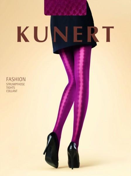 Semi-ondoorzichtige elegante panty met puntenpatroon Playful Dots van KUNERT