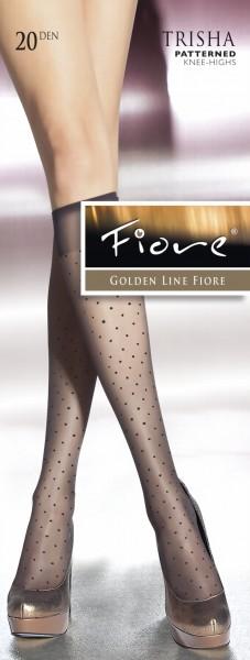 Elegante kniekousen met puntenpatroon Trisha van Fiore, 20 DEN