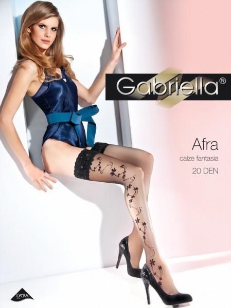 Elegante stay ups met bloemenpatroon Afra van Gabriella