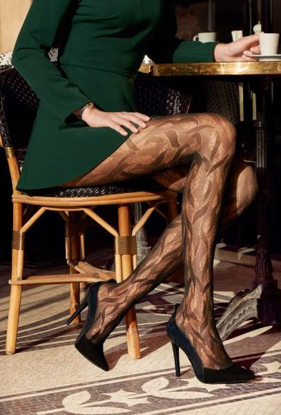 Elegante panty met patroon Fascination van Gerbe