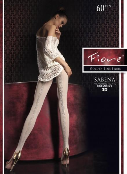 Elegante ondoorzichtige pantys met patroon Sabena van Fiore, 60 DEN