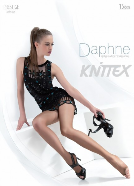 Gladde teenloze pantys Daphne van Knittex, 15 denier