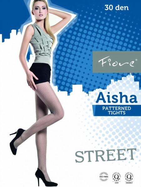 Netpantys met patroon Aisha 30 DEN van Fiore
