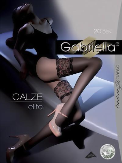 Elegante stay ups met kanten sierband Elite van Gabriella