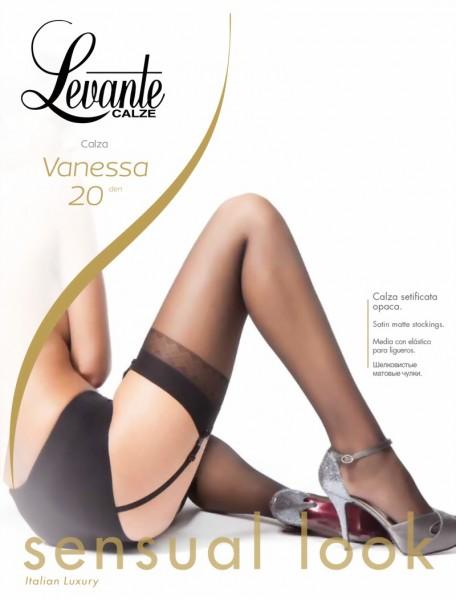 Gladde transparante jarretelkousen Vanessa van Levante