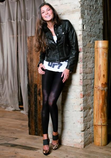 Exclusieve leggings in used-look Croatia van Trasparenze