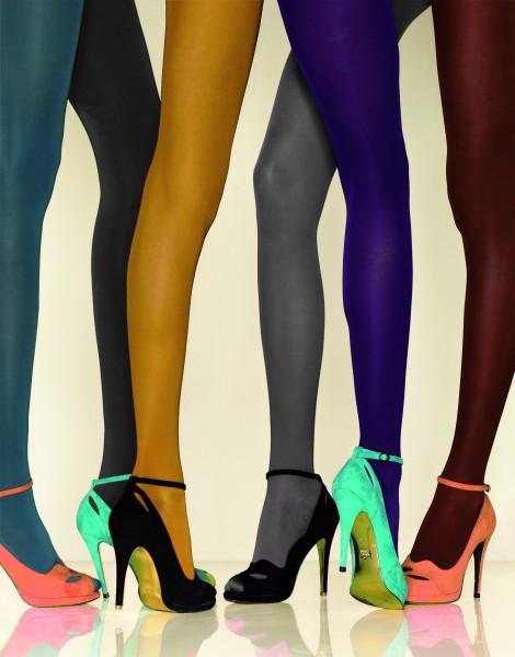 Gladde ondoorzichtige panty met satijnglans in trendy kleuren Futura 40 van Gerbe