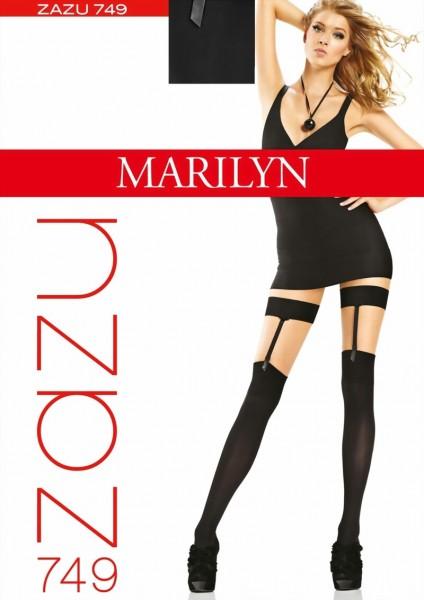 Over de knie sokken Zazu van Marilyn, zwart, one size