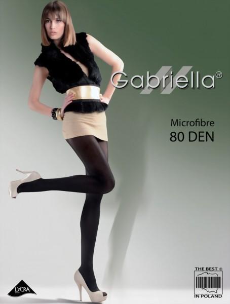 Gladde ondoorzichtige panty Microfibre 80 DEN van Gabriella
