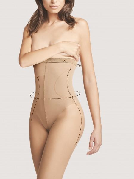 3f59d23291a Transparante panty met figuurcorrigerend broekje High Waist Bikini 20 van  Fiore